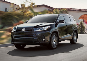 Exterior of the 2018 Toyota Highlander Hybrid