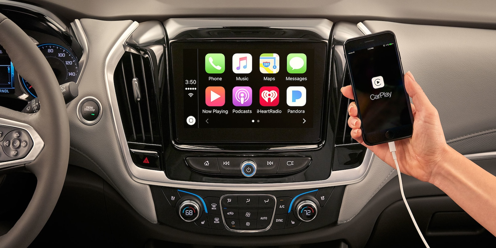Apple CarPlay™ in the Chevy Traverse