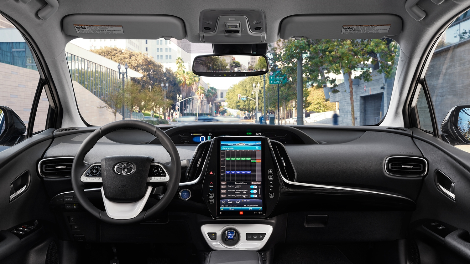 Fully loaded Interior of the 2018 Prius Prime