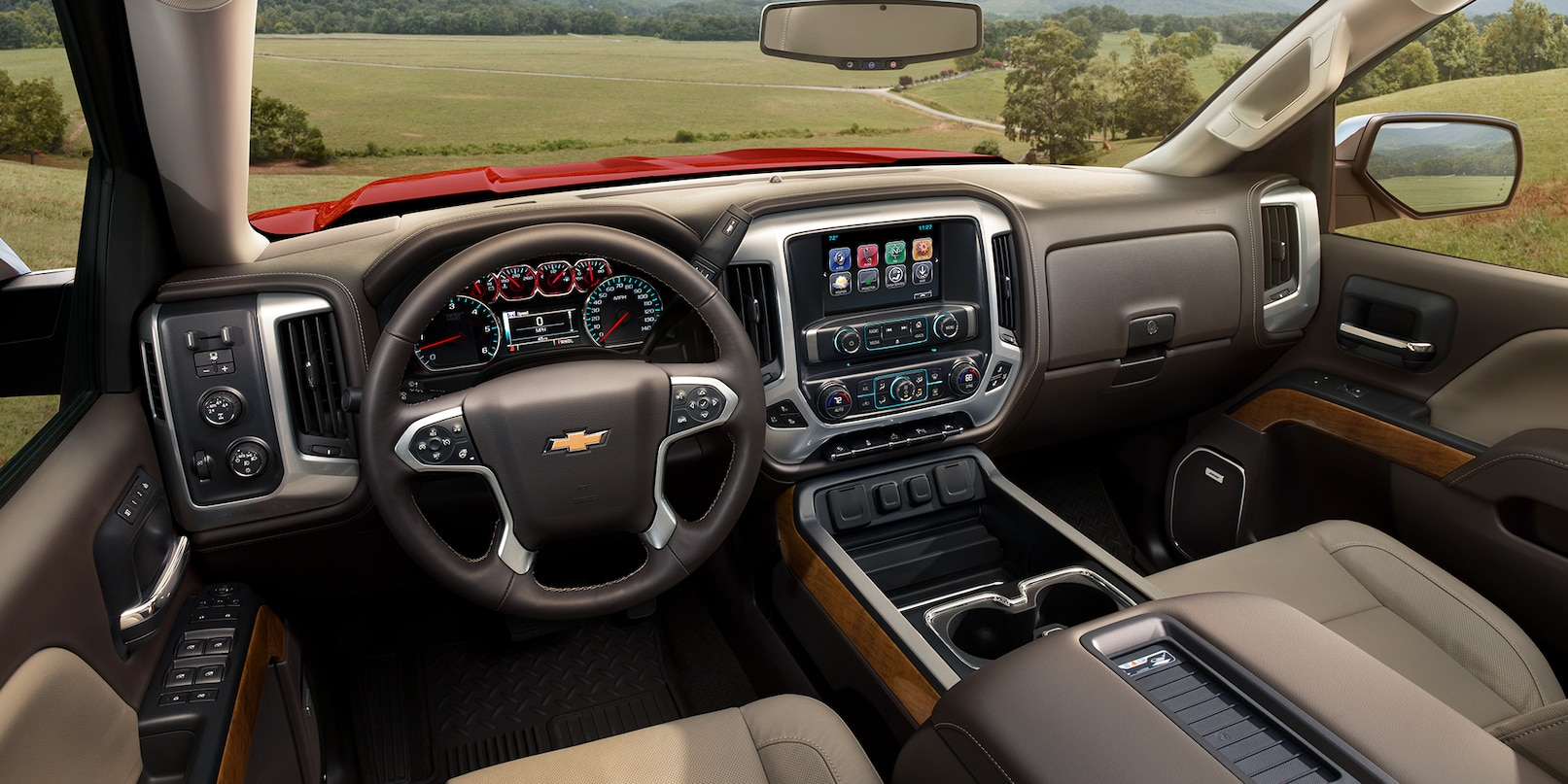 View From the Interior of the 2018 Silverado 1500