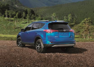 Exterior of the 2018 Toyota RAV4 Hybrid