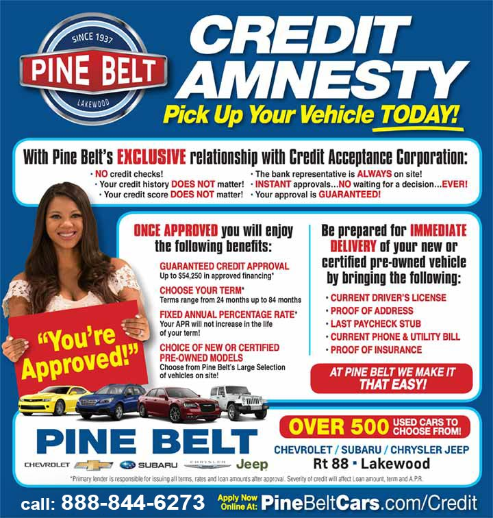 Guaranteed Credit Approval Pine Belt Cars