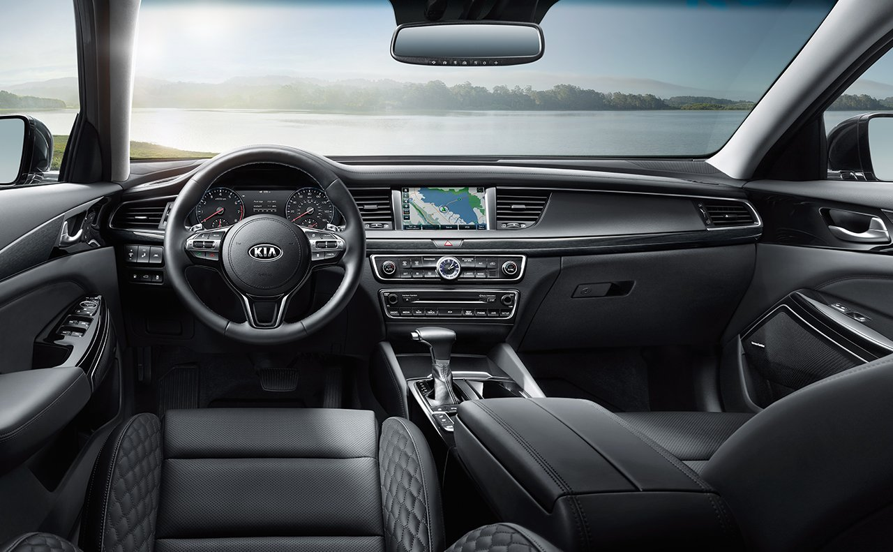 Interior of the 2017 Kia Optima