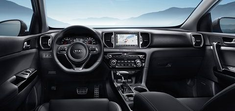 View From the Cabin of the 2018 Kia Sportage