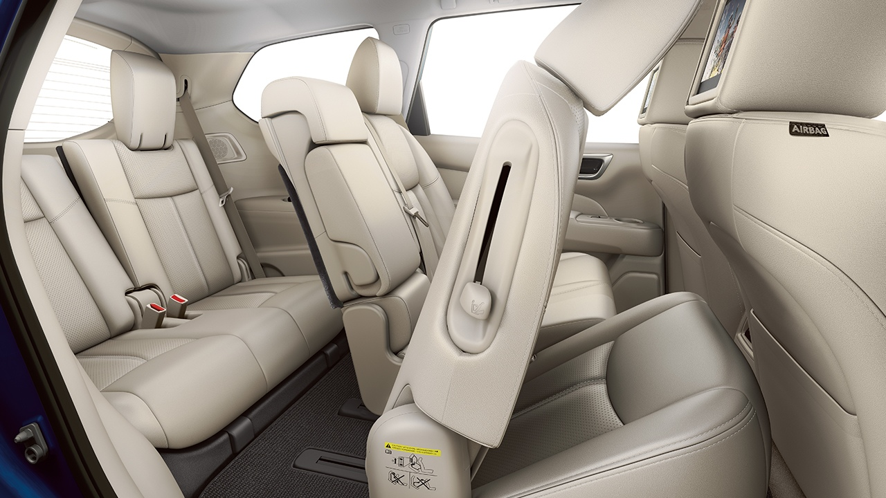 2018 Nissan Pathfinder Interior in Almond Leather