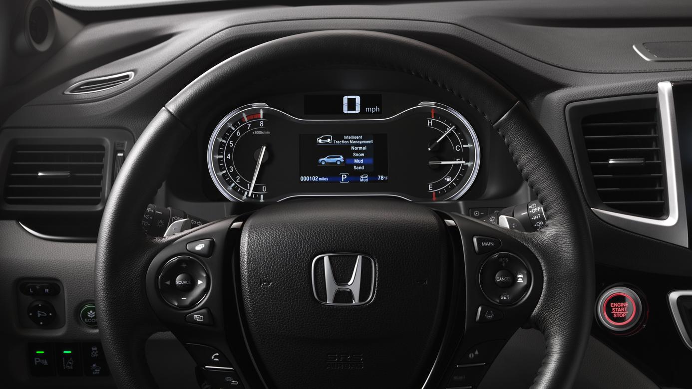 2018 Honda Pilot Leather Wrapped Steering Wheel
