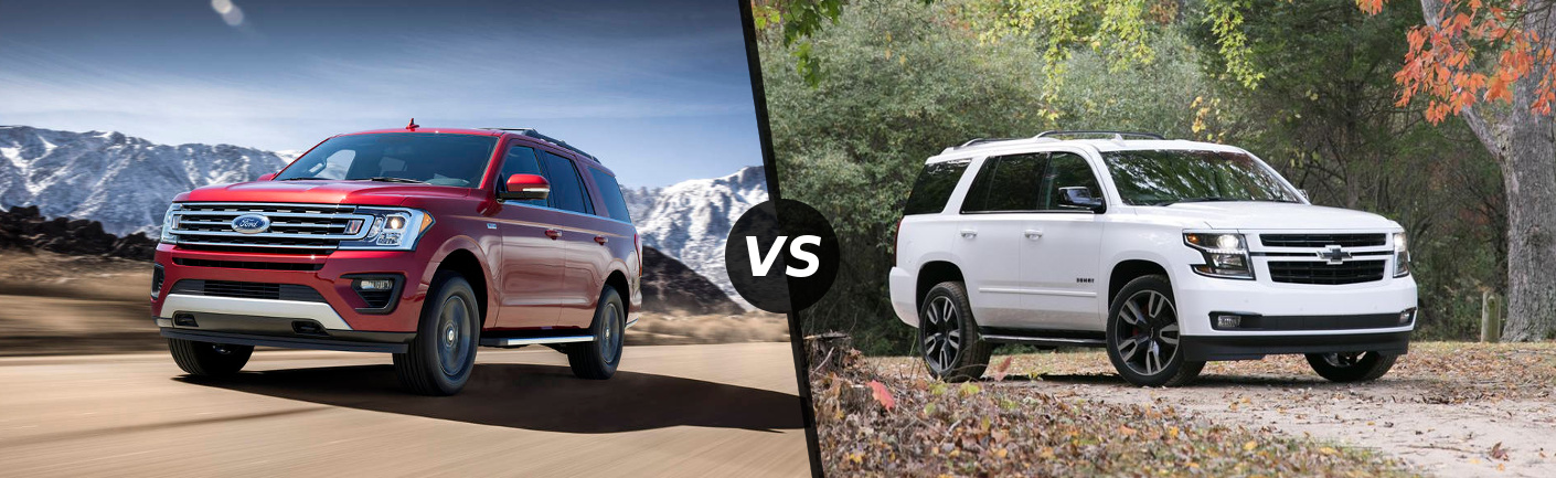 2018 Ford Expedition vs 2018 Chevy Tahoe in Carol Stream, IL