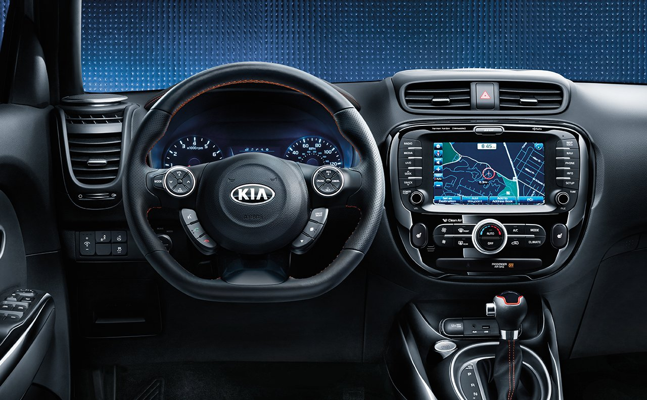 Interior of the 2018 Kia Soul