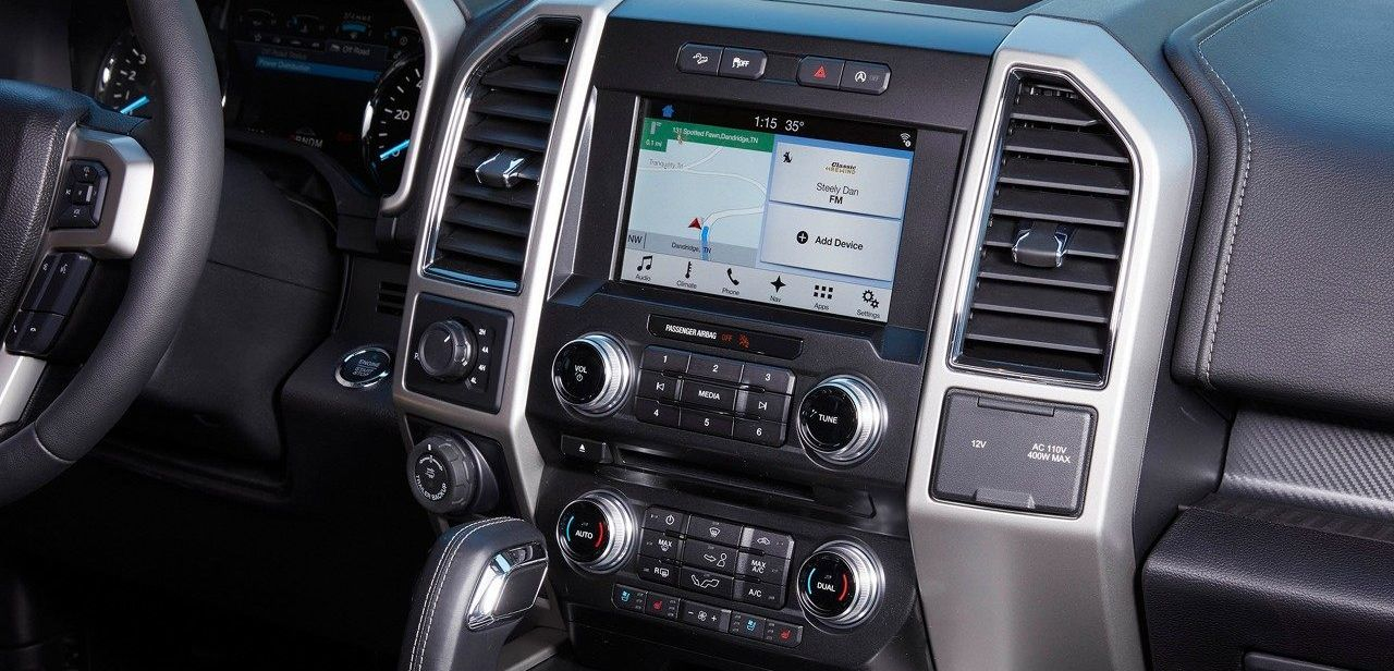 Tech-Loaded Cabin of the 2018 Ford F-150