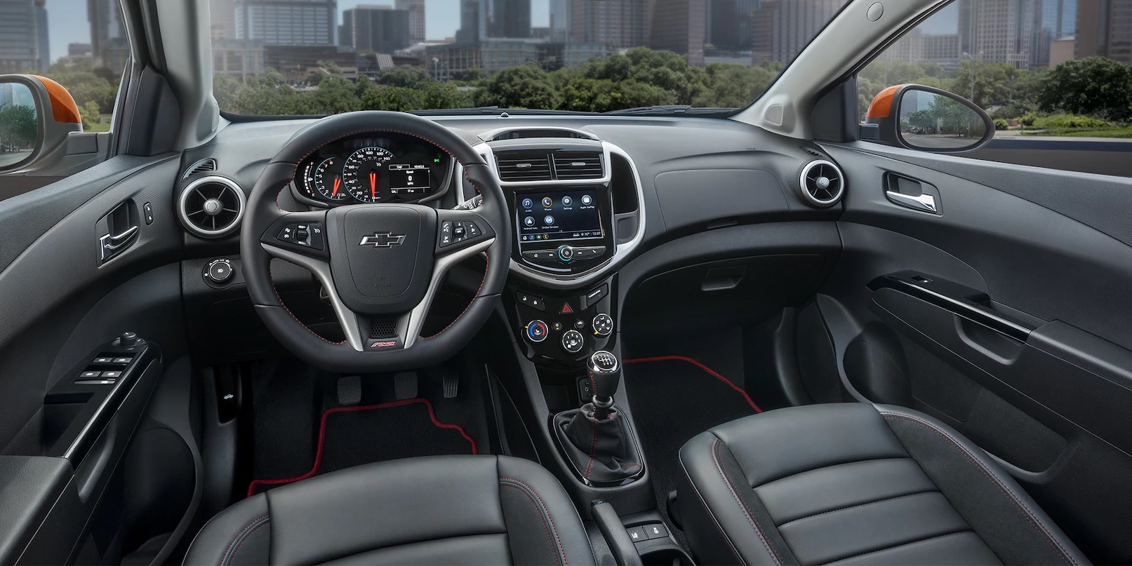 Interior of the 2018 Sonic with Available RS Package