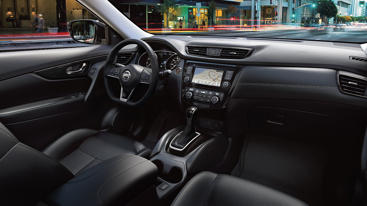 Center Console of the 2018 Nissan Rogue