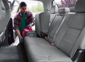 Interior space in the new Toyota Tundra