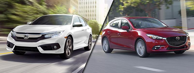 2018 Honda Civic Vs. Mazda Mazda3
