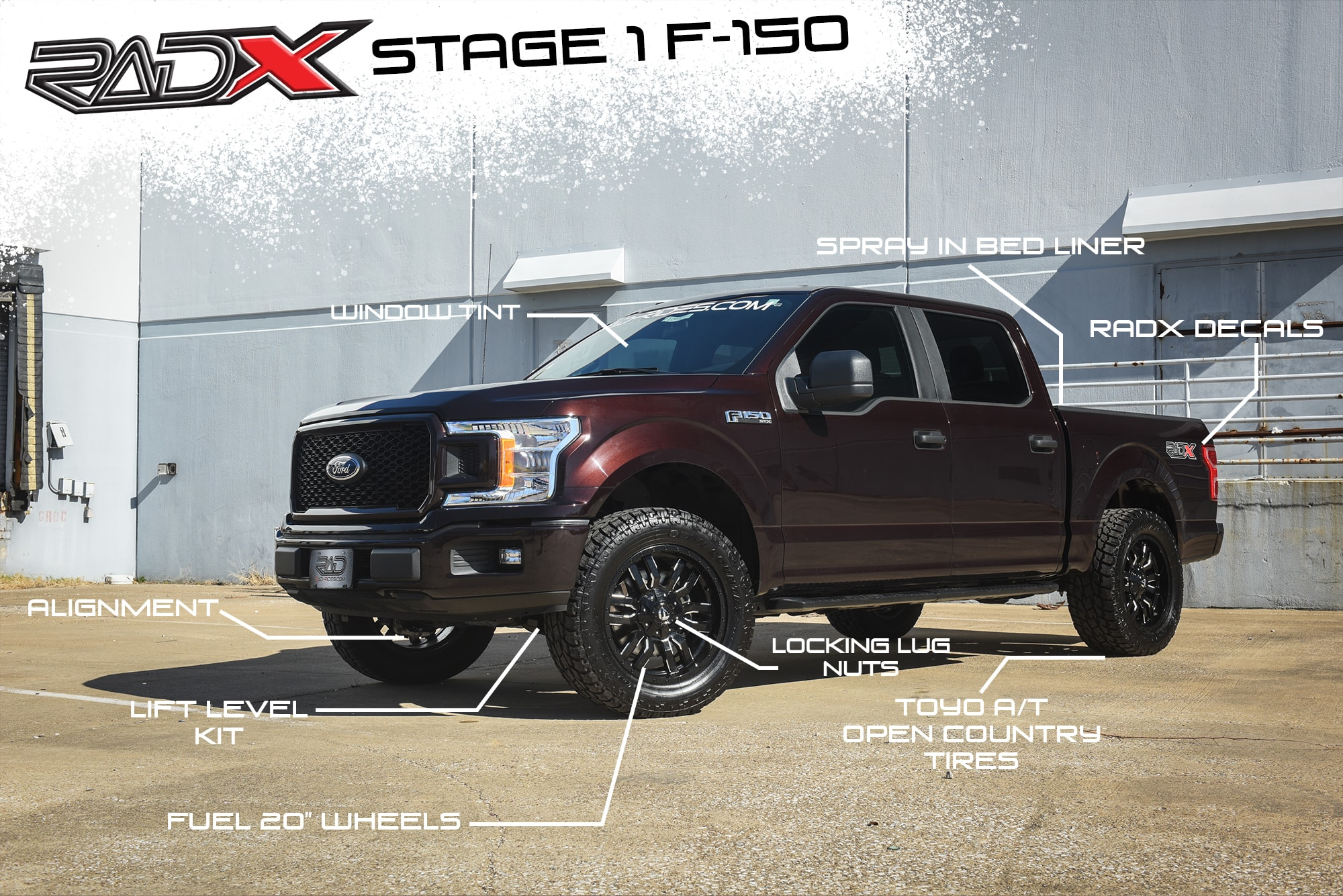2018 ford f 150 lift level packages with wheels and tires for 4x4 aftermarket truck