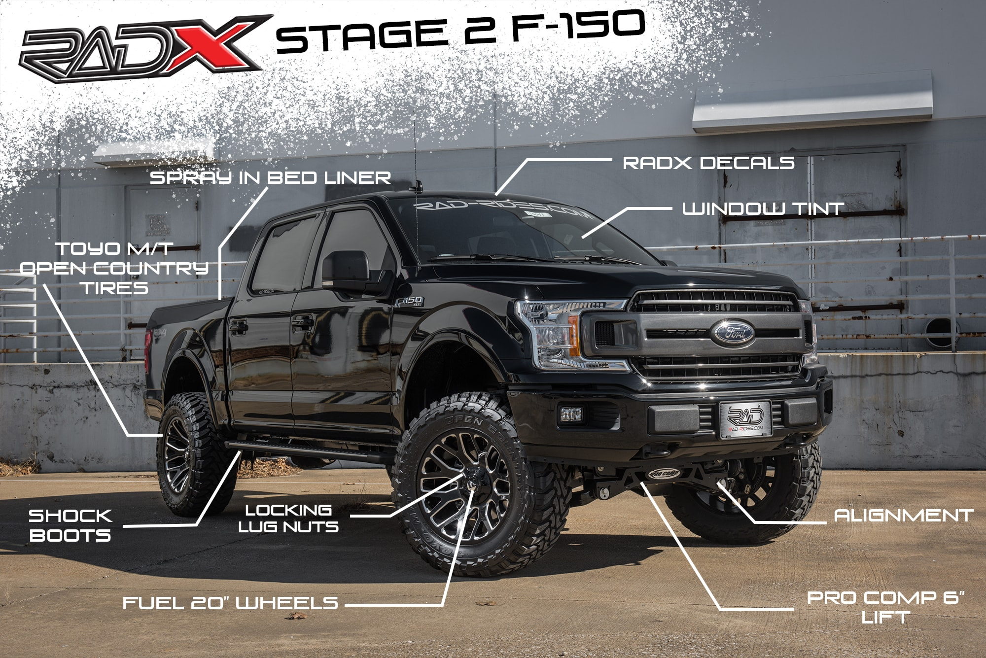 Rad Truck Packages For 4x4 And 2wd Trucks Lift Kits And Wheels And