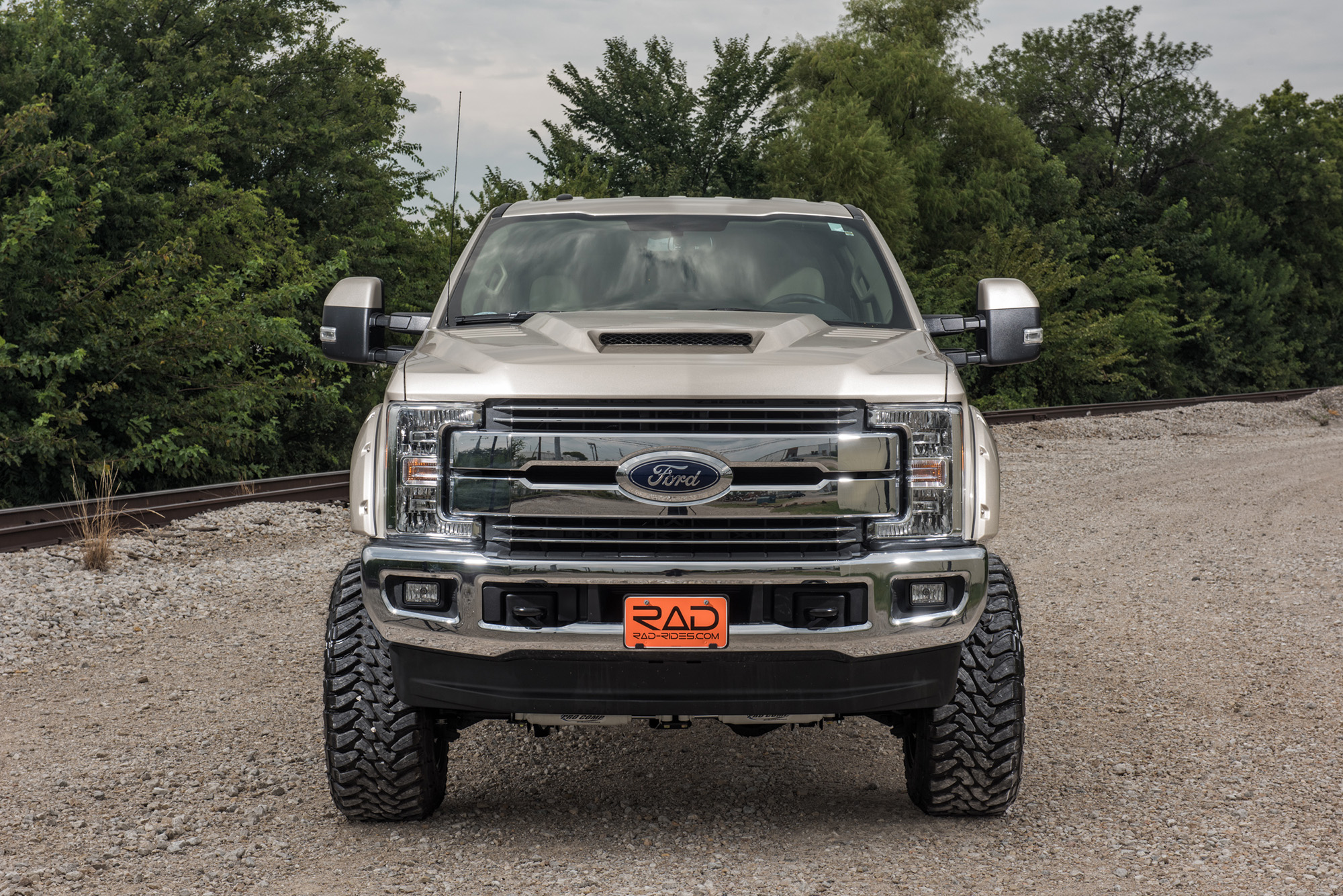 Lifted Ford F  Radx Stage  Lariat Truck White Gold Sold