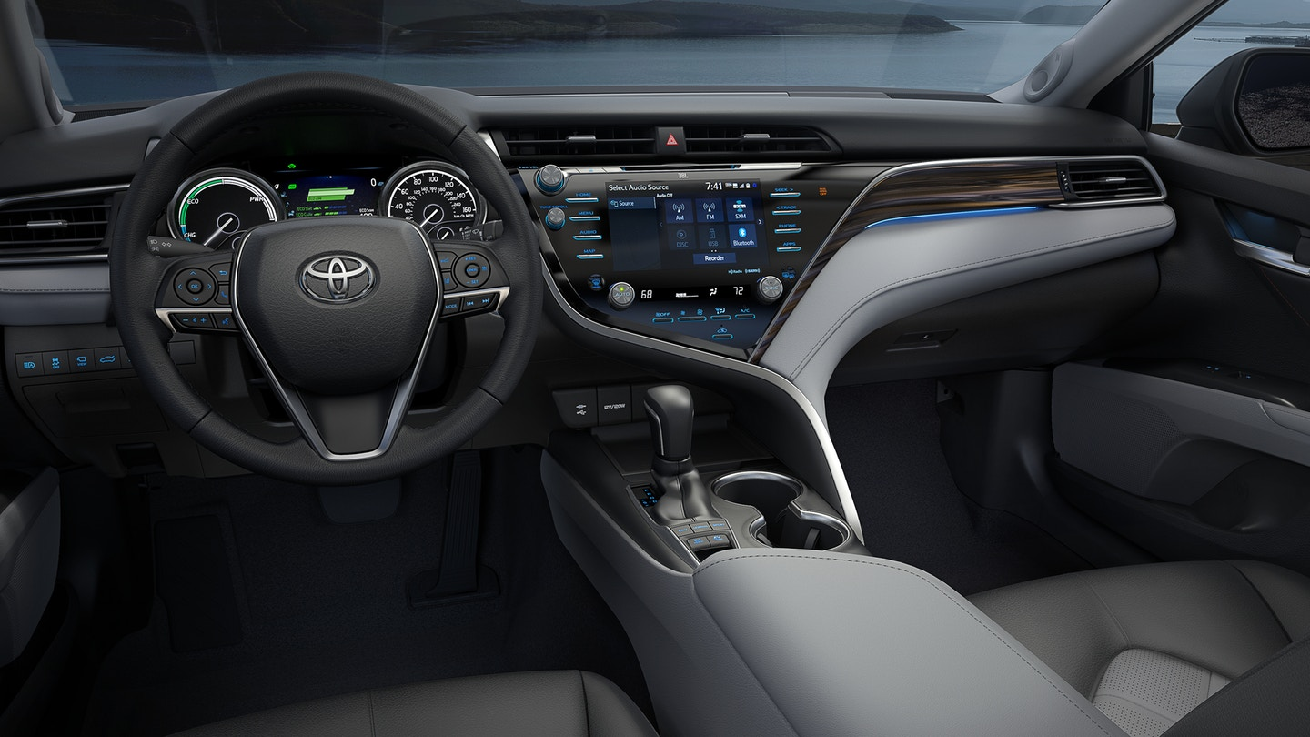 Interior of the 2018 Camry Hybrid