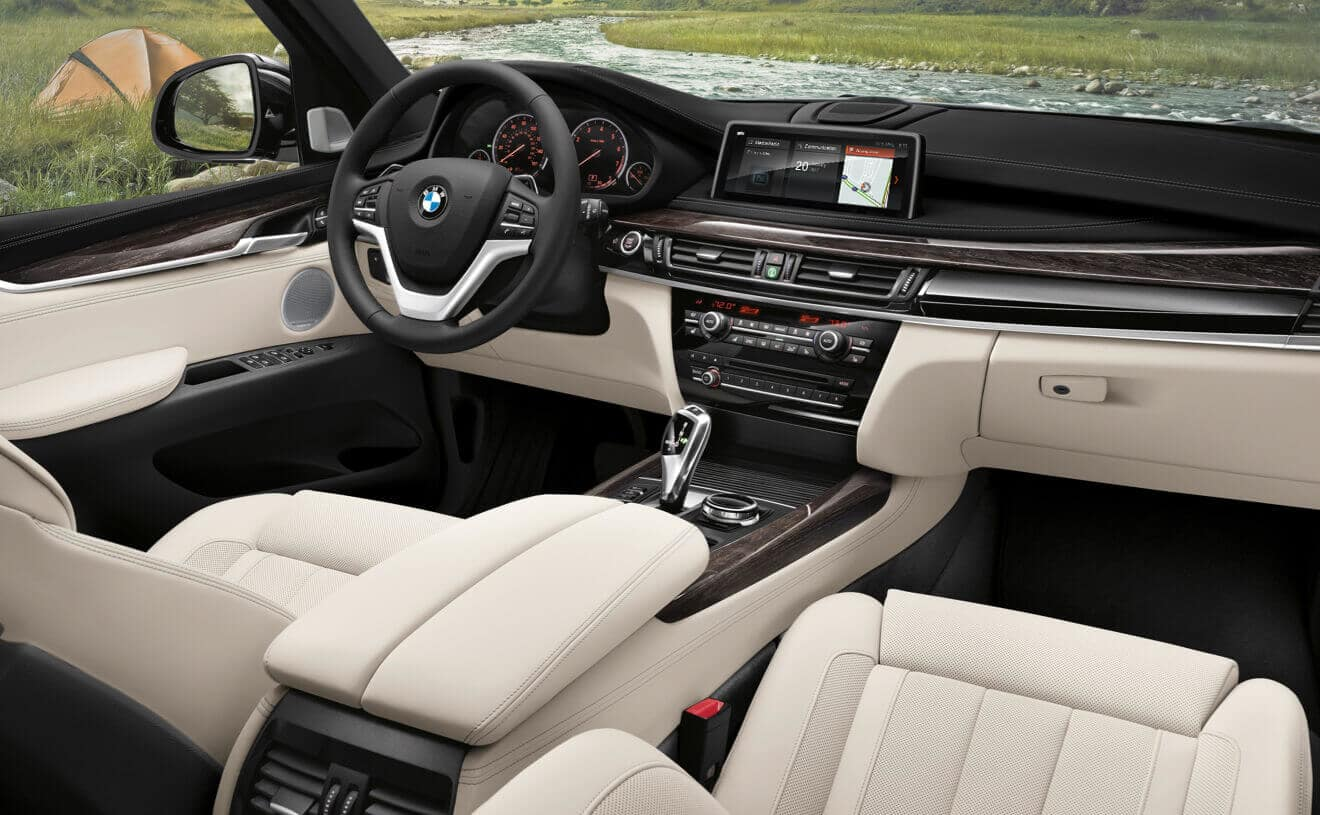 Interior of the 2018 BMW X5