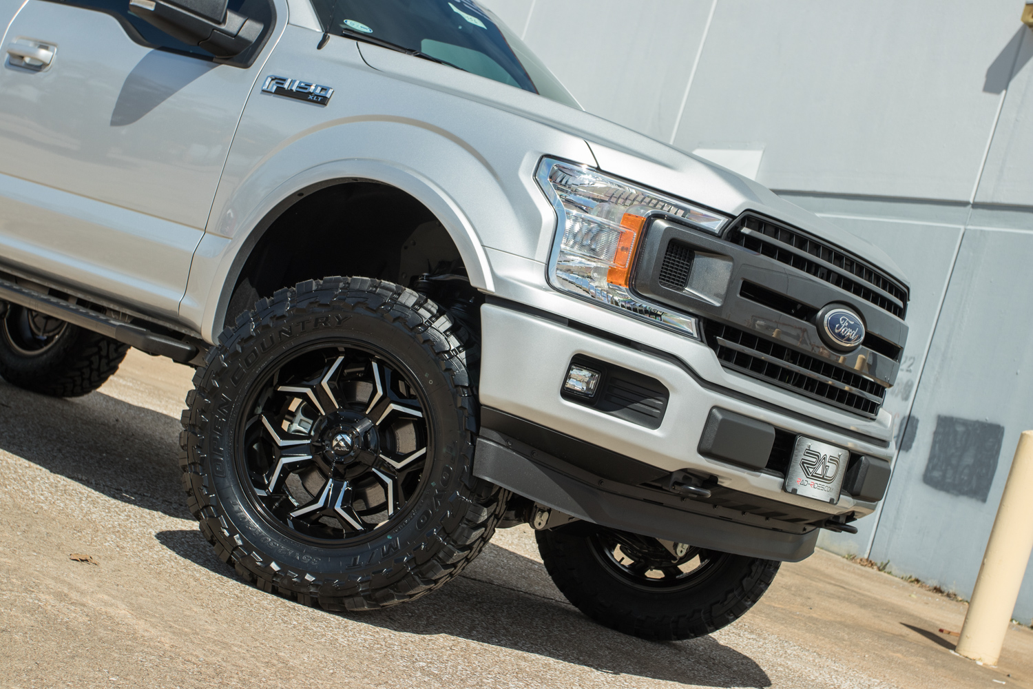lifted   ford   radx stage  silver custom truck rad rides