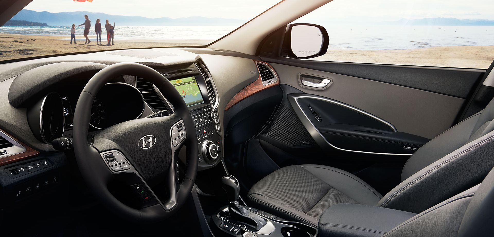 Interior of the 2018 Hyundai Santa Fe