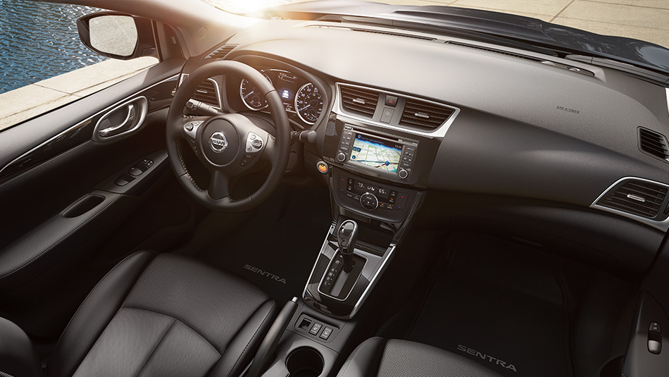 Interior of the 2018 Sentra