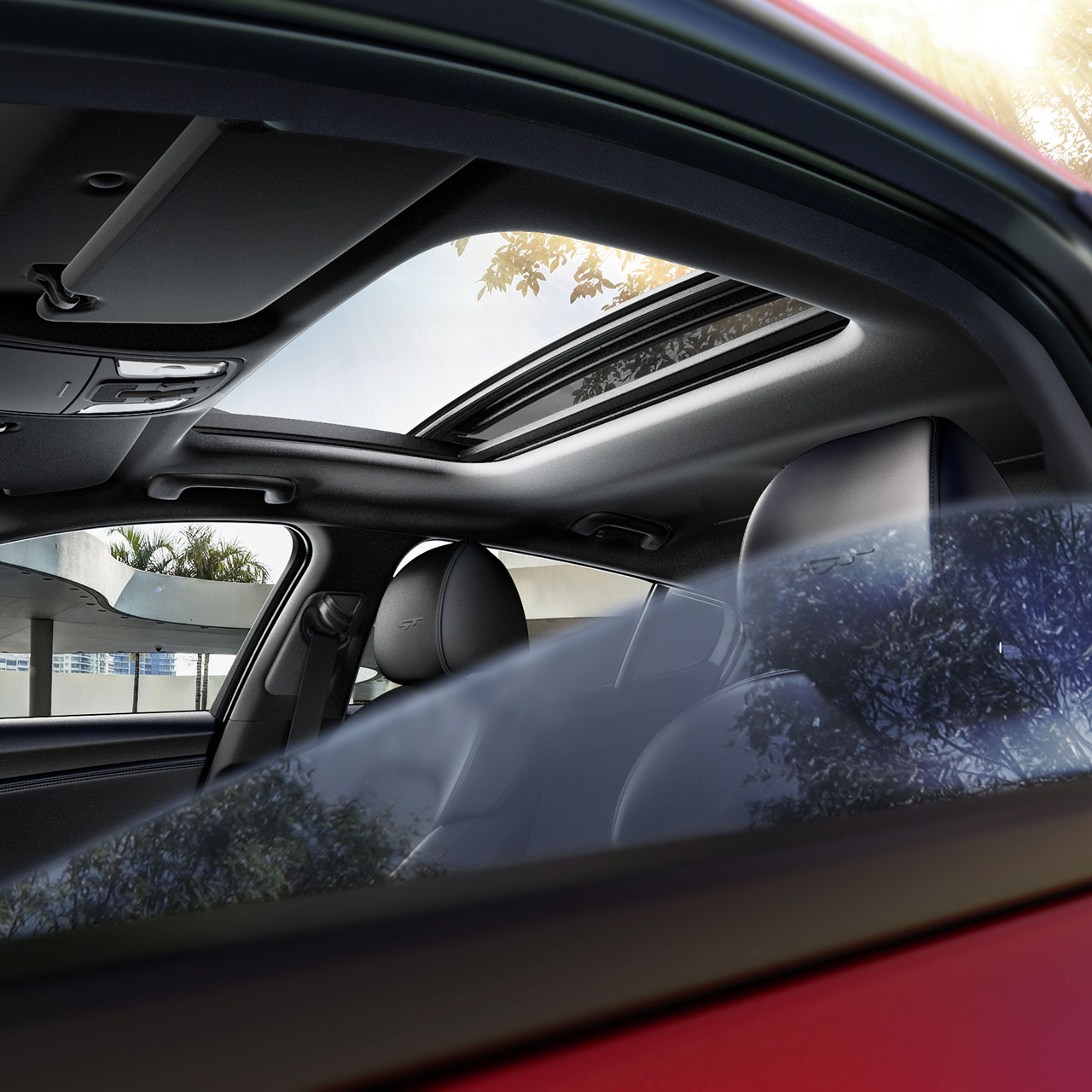 Enjoy The Stinger's Luscious Interior and Available Power Sunroof