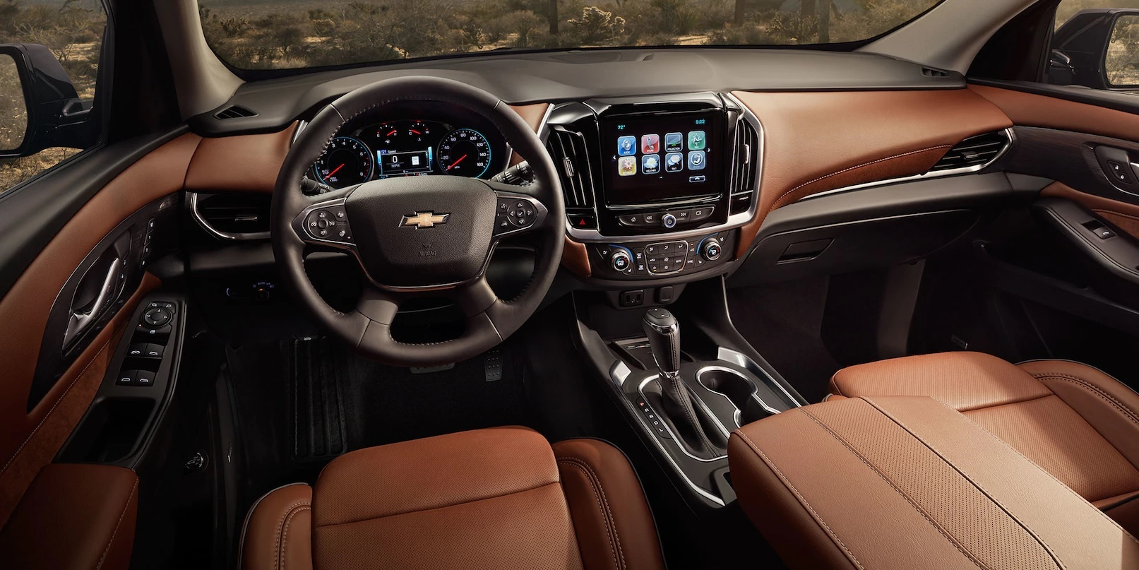 Interior of the 2018 Chevrolet Traverse