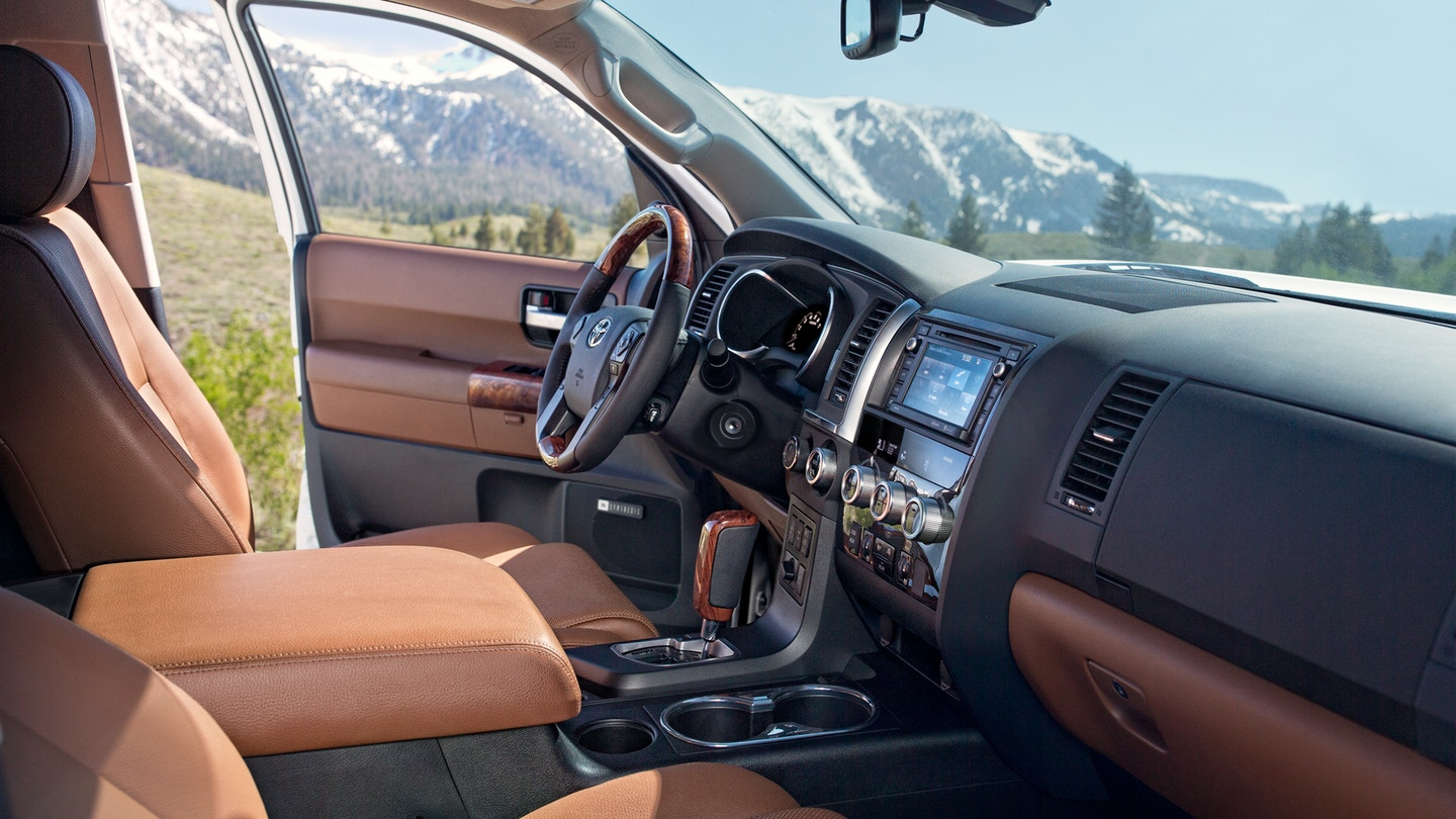 Interior of the 2018 Toyota Sequoia