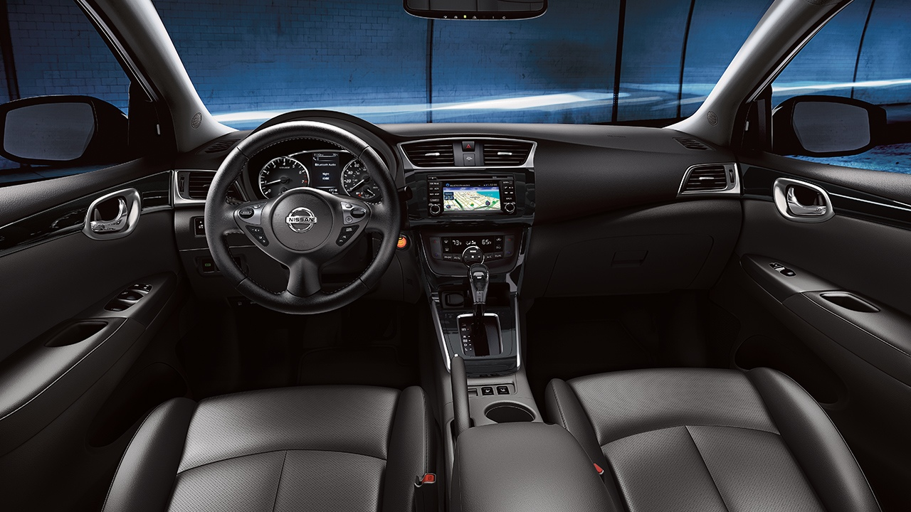 Interior of the 2018 Nissan Sentra