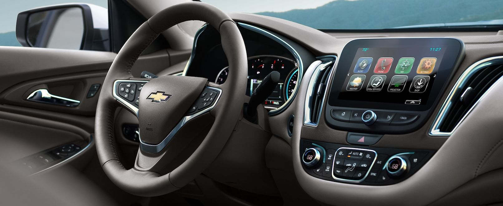 Interior of the 2018 Chevy Malibu