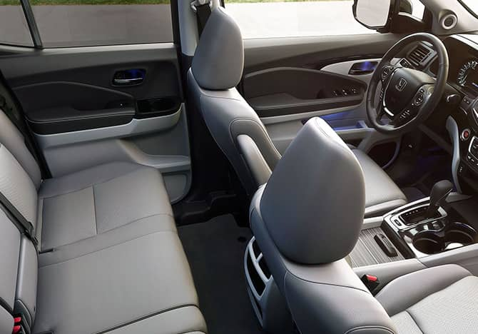 Interior of the 2018 Honda Ridgeline