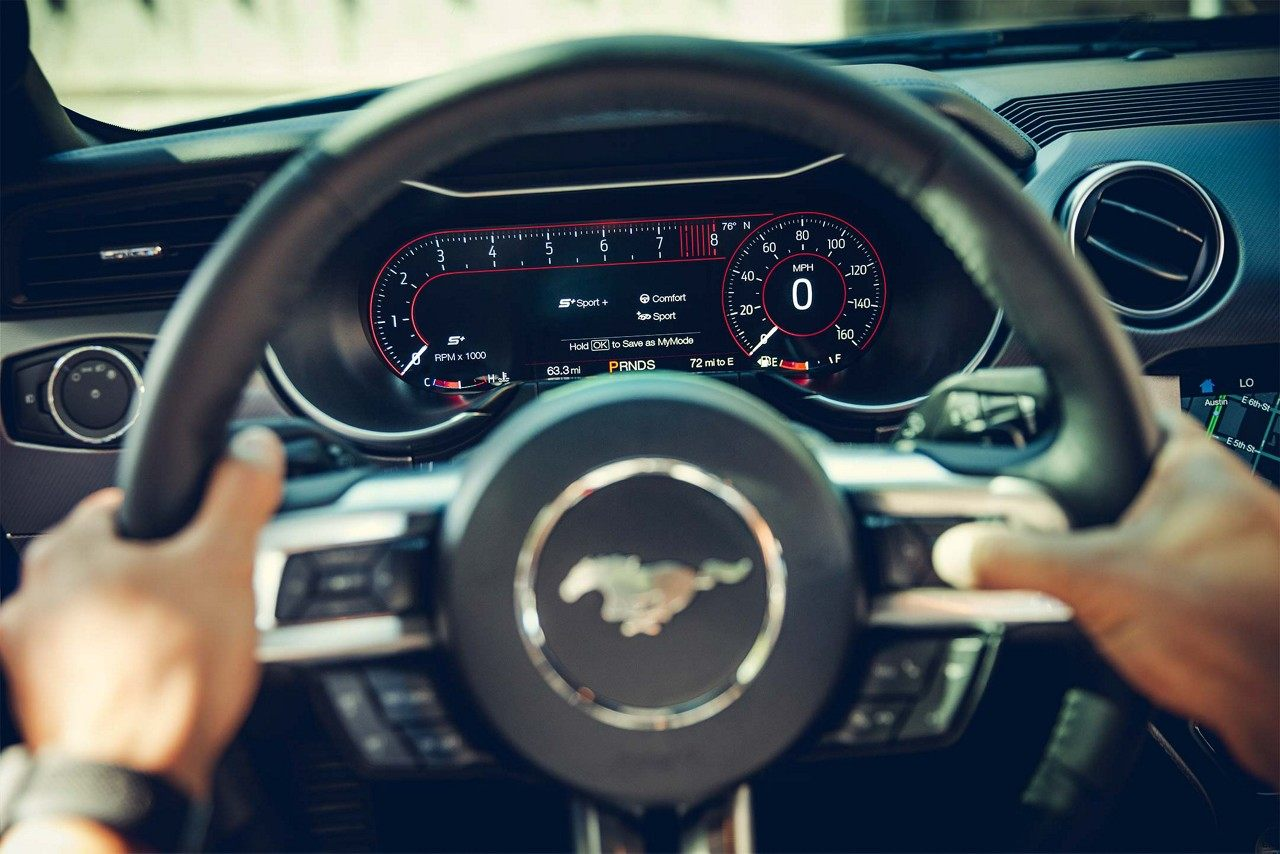 Interior of the 2018 Ford Mustang