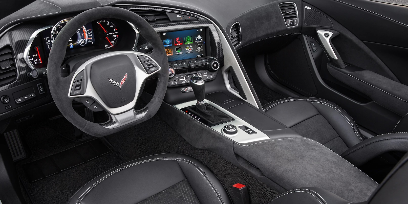 Interior of the 2018 Chevrolet Corvette