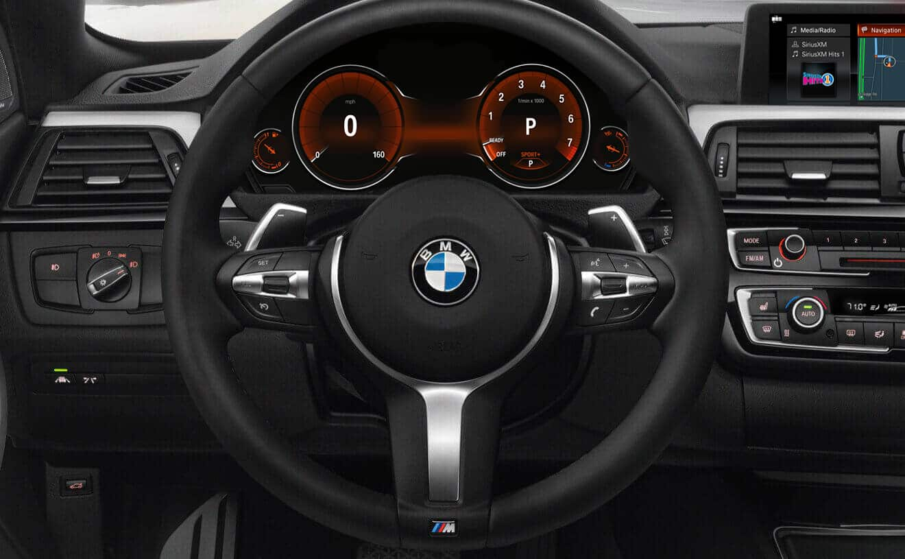Interior of the 2018 BMW 4 Series