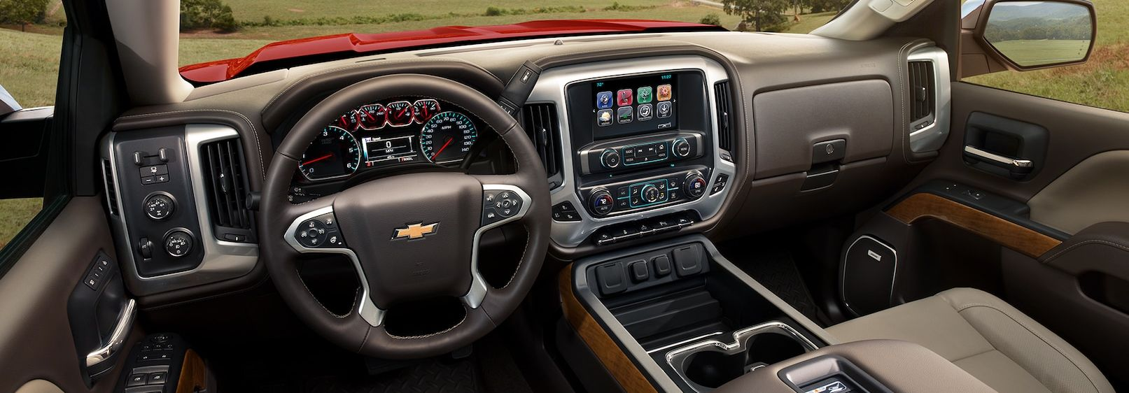 Well-Equipped Cabin of the Silverado 1500