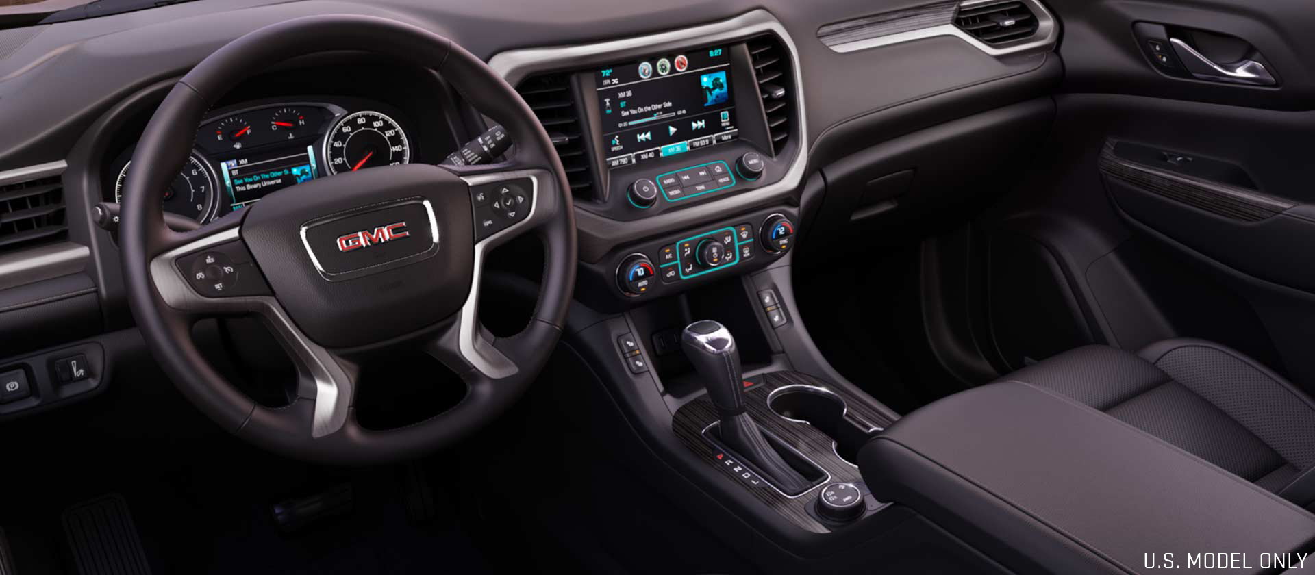 Interior of the 2018 GMC Acadia