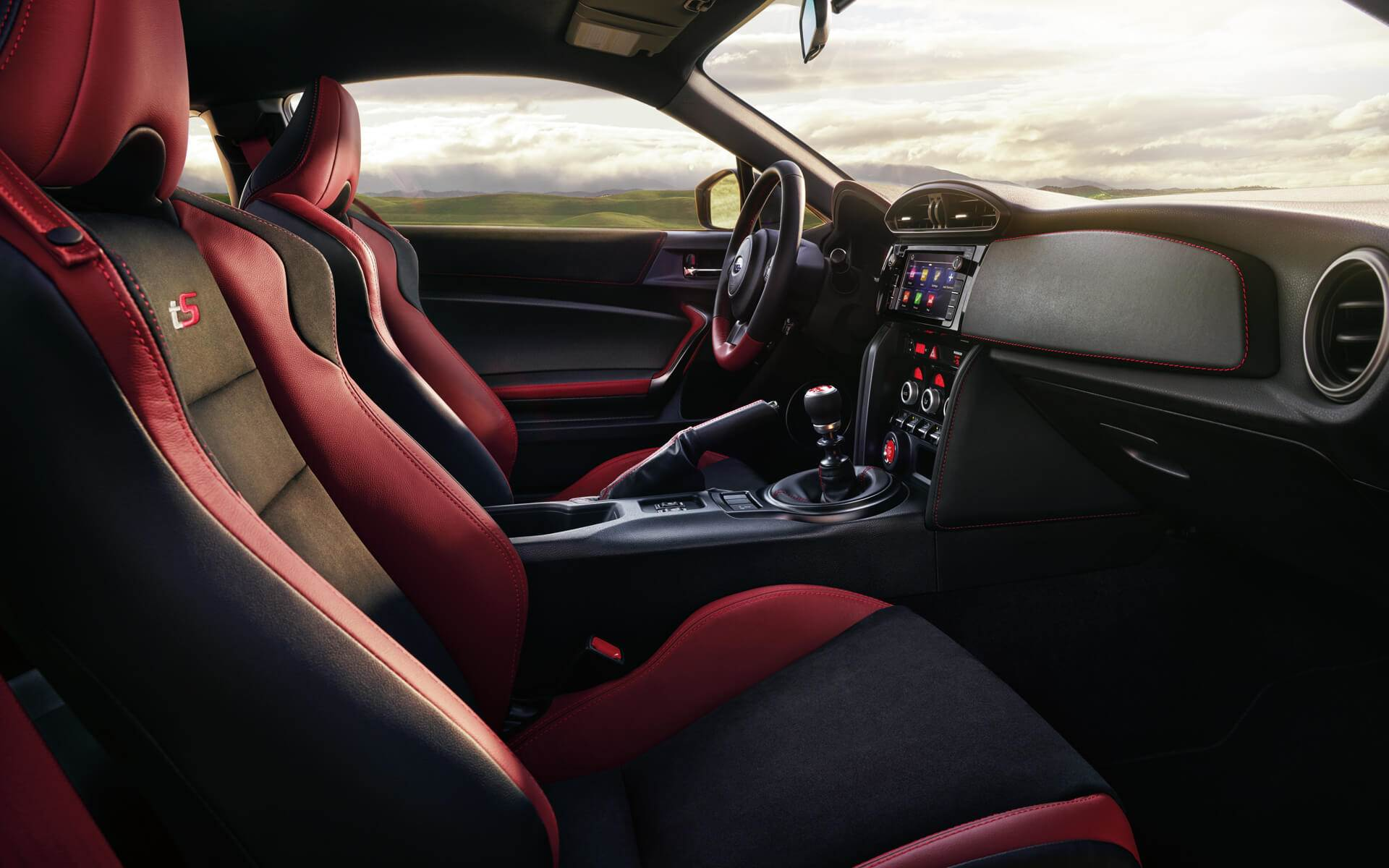 Interior of the 2018 Subaru BRZ