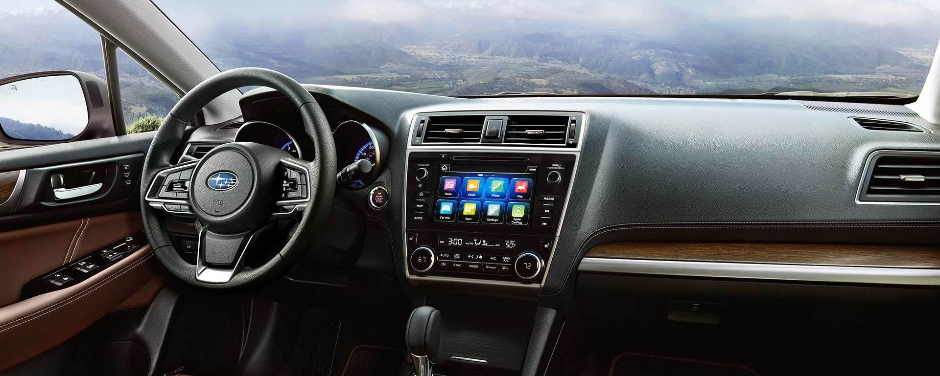 Interior of the 2018 Subaru Outback
