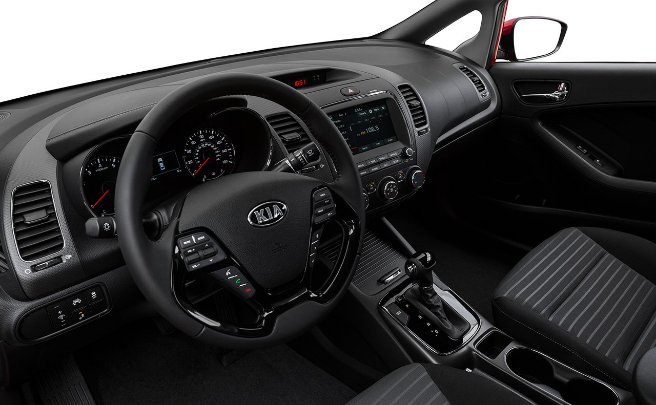 Interior of the 2018 Kia Forte