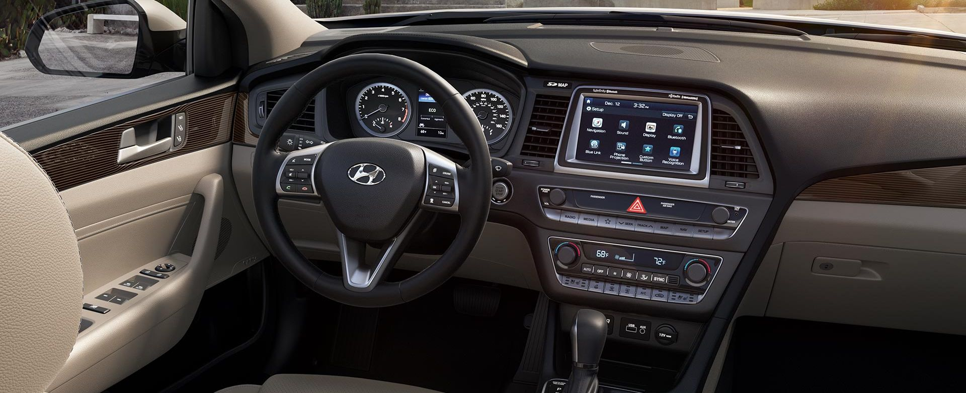 Cozy Interior of the 2018 Hyundai Sonata