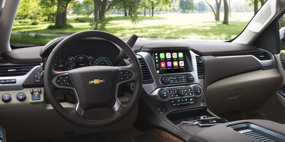 Interior of the 2018 Chevrolet Tahoe