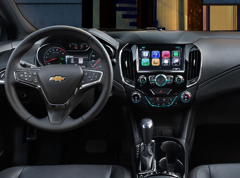 Interior of the 2018 Chevrolet Cruze