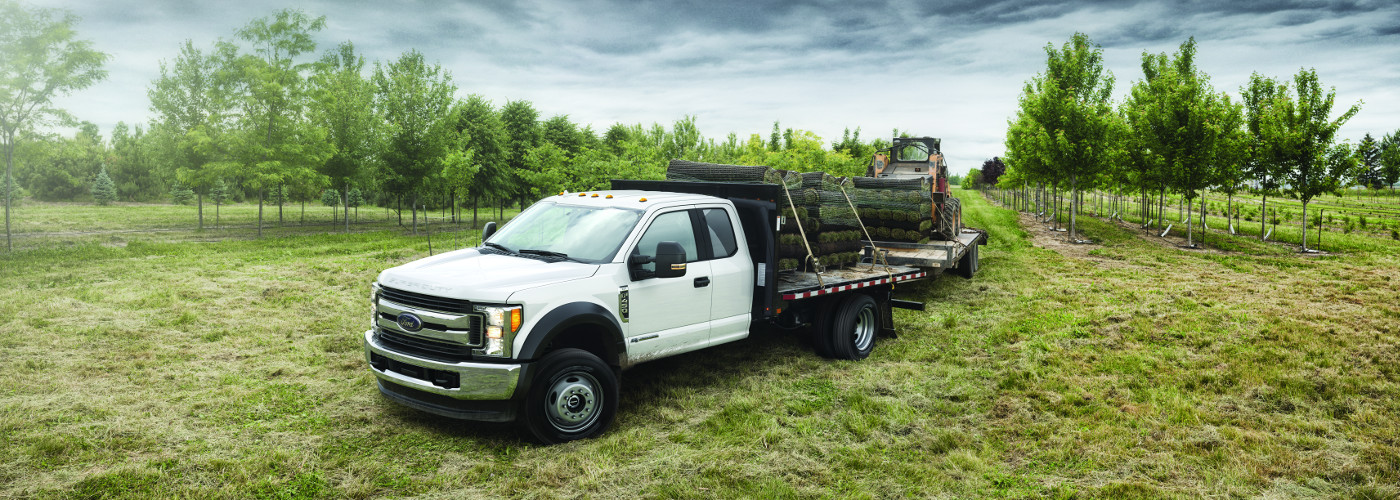 2018 Ford F-450 carrying grass sod