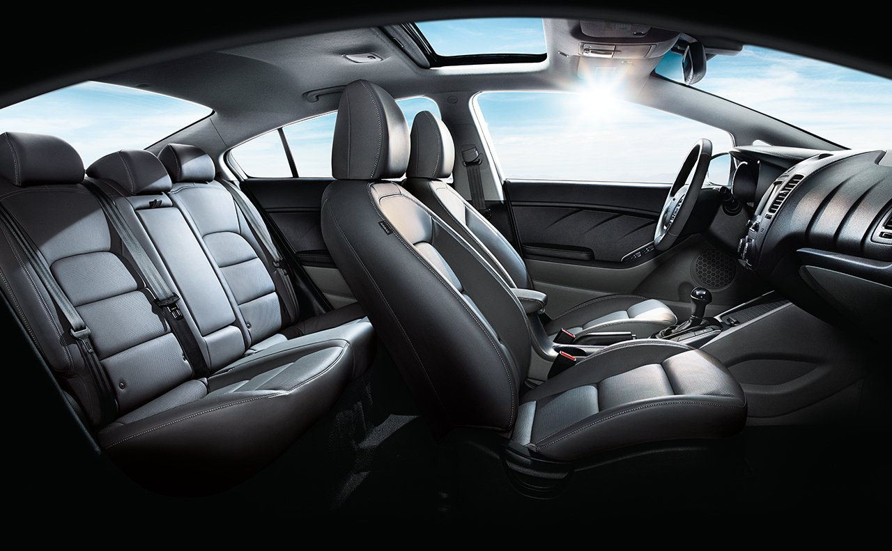 Commodious Seating for Five Aboard the 2018 Forte