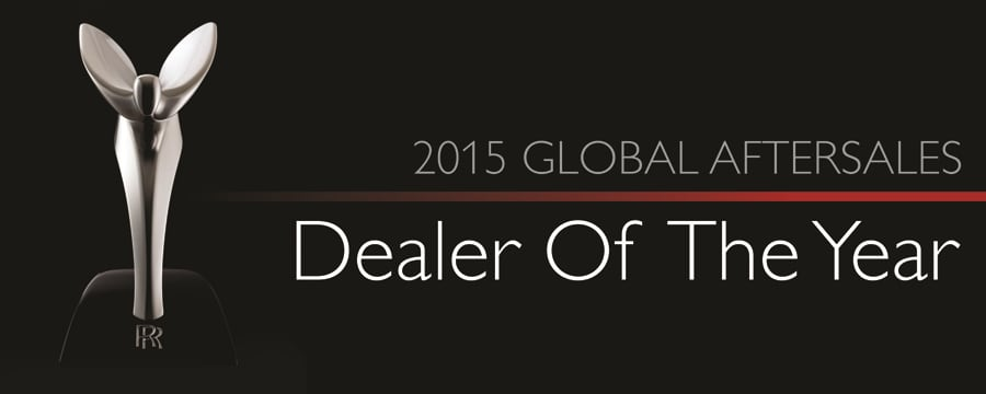 2015 global aftersales dealer of the year