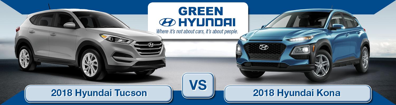 2018 Hyundai Tucson vs  2018 Hyundai Kona | Springfield, IL