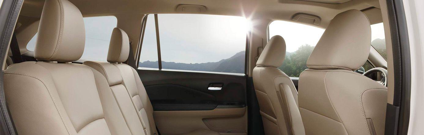 2018 Honda Pilot Interior in Beige Leather