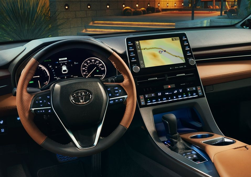 Interior of the 2019 Toyota Avalon Hybrid