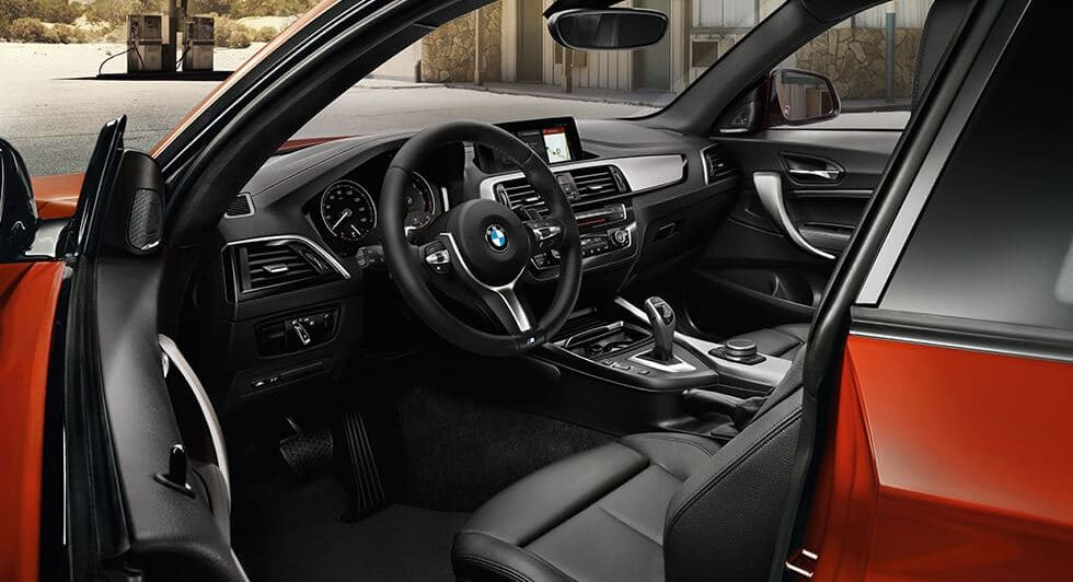 Interior of the 2018 BMW 2 Series