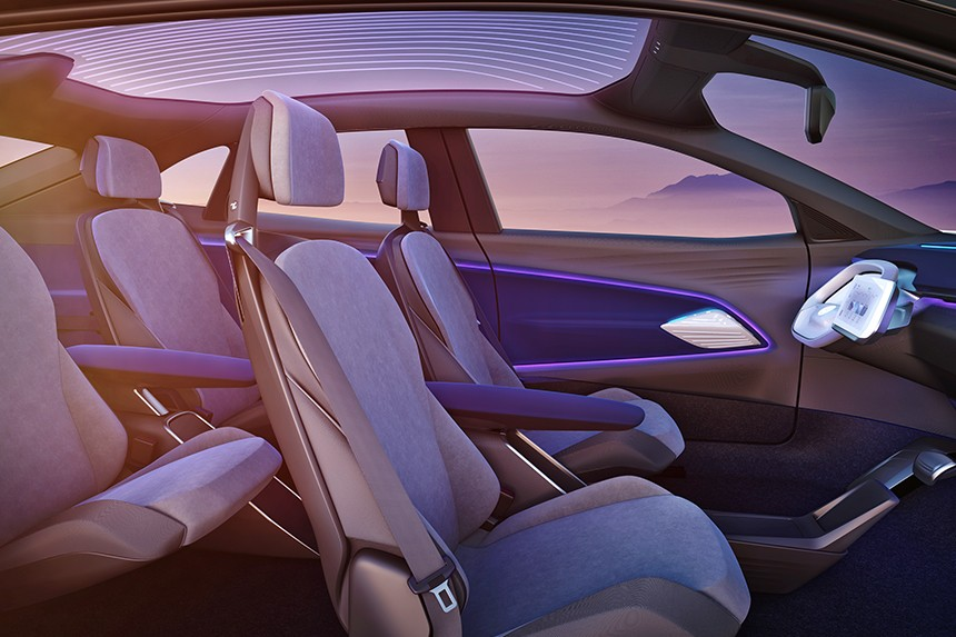 Interior del Volkswagen I.D. CROZZ (vehículo conceptual)